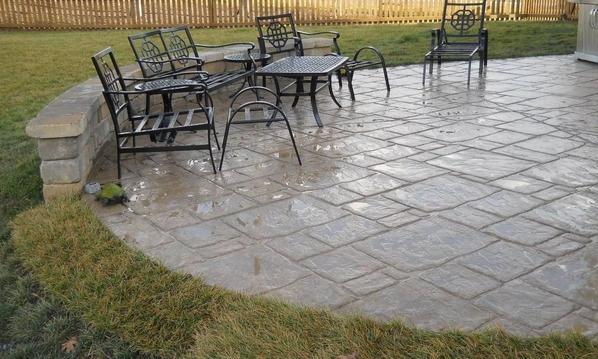 concrete patio in beavercreek